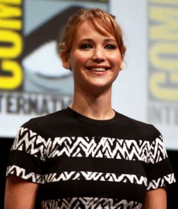 "Lawrence at the lead: ""The Hunger Games"" actress Jennifer Lawrence at Comic Con in San Francisco in July 2013. [Photo copyright: Gage Skidmore]"