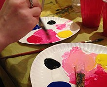 Party arty at Paint Nite