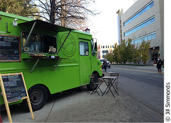 The Stone Soup Food works truck on the University of Ottawa campus