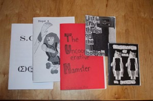 Zines come in a variety of sizes, colours and designs, but they all come from the same place: the photocopier. [Photo © Rachel Gilmore]