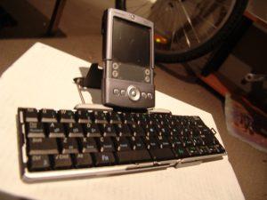 Palm Pilot and keyboard