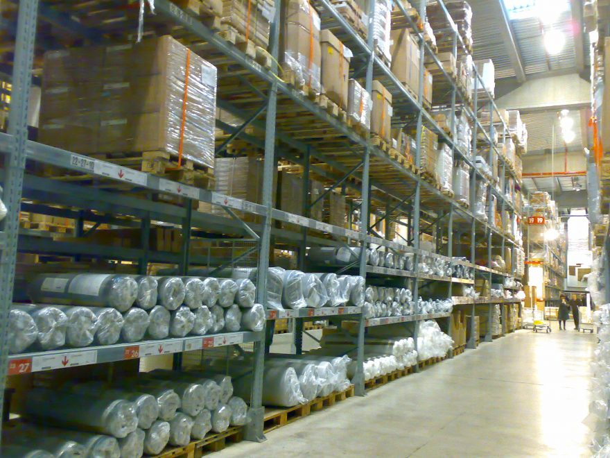 Inventory at an Ikea store